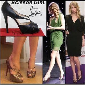 Christian Louboutin 120mm scissor girl heel